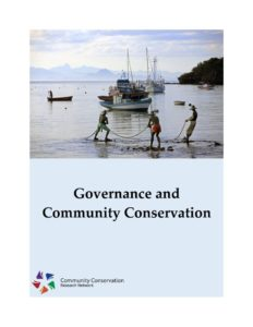 thumbnail of Governance and Community Conservation Guidebook