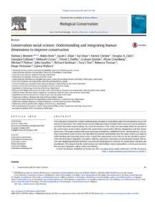thumbnail of Bennet et al Understanding human dimensions in conservation_Biological Conservation 205(2017)93-108