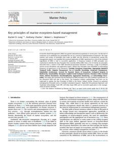 Key principles of marine ecosystem-based management PDF