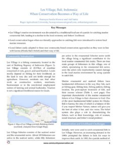 Community Conservation Research Network Les Village Bali Indonesia